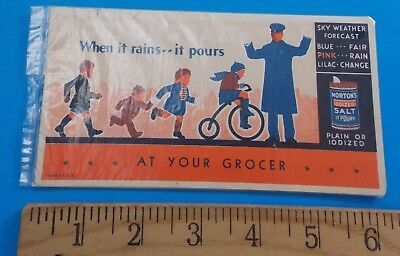 Vintage Mortons Salt When It Rains It Pours Adverti T Card Stidham Estate