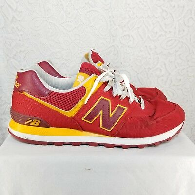 official photos 3276b 5b60c NEW BALANCE 574 Classic Mercury Red/Gold Rush | Trail Pack ...