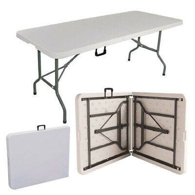 1.8 Meter 6FT CATERING CAMPING HEAVY DUTY FOLDING TABLE TRESTLE PICNIC PARTY BBQ