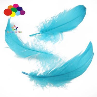 Lake Blue Diy 100 Pcs/Lot Goose feather 4-7cm 1-2 Inch Stage Props Dream Catcher