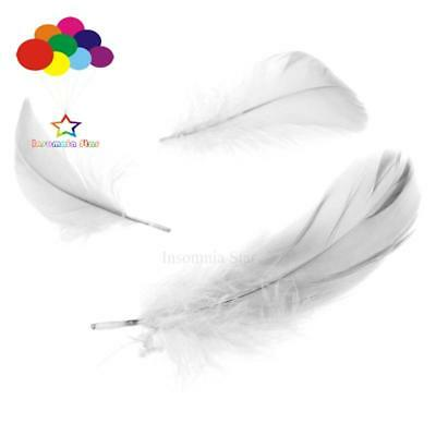 Grey Diy 100 Pcs/Lots Goose feather 4-7cm 1-2 Inch Stage Props Dream Catcher