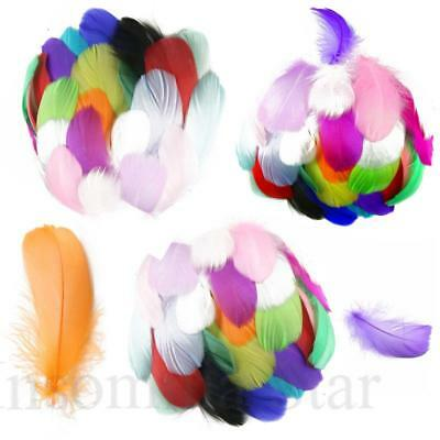 Diy 100 Pcs/Lot Colourful Goose feather 4-7cm 1-2 Inch Stage Props Dream Catcher
