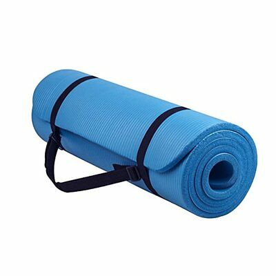 Yoga Mat 15mm Extra Thick Exercise Mats Non Slip Design Pilates NBR &Carry Strap