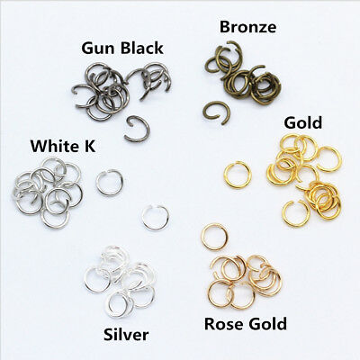New 6Colors Metal Open Jump Rings Split Rings Jewelry Connectors 4mm,5mm,6mm,8mm