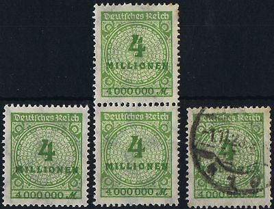 German Reich 1923 Mi 316 Hyper-Inflation issue 4,000,000M value MNH/used