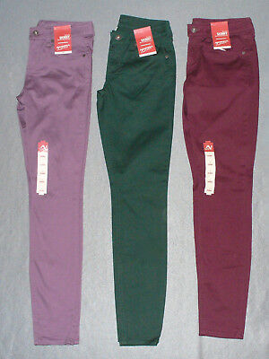 fd3b9b90a NWT Womens Junior Arizona Sateen Skinny Pants - U Pick Color + Size - MSRP  $40