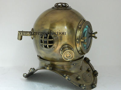 "1921 Antique 18"" inch diving divers helmet deep sea anchor engineering Replica"