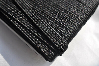 8mm Japanese silk tsuka-ito, black