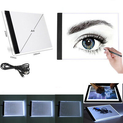 A4 LED Light Box Tracing Drawing Board Art Design Pad Copy Lightbox Day&Light L