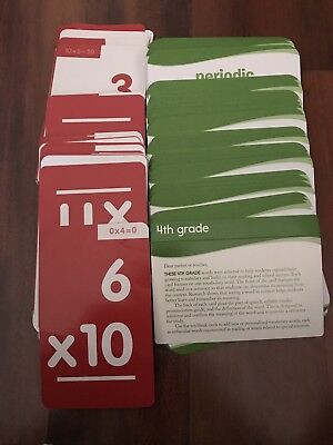 Multiplication Flash Cards Set Of 91 Cards 1089 Picclick