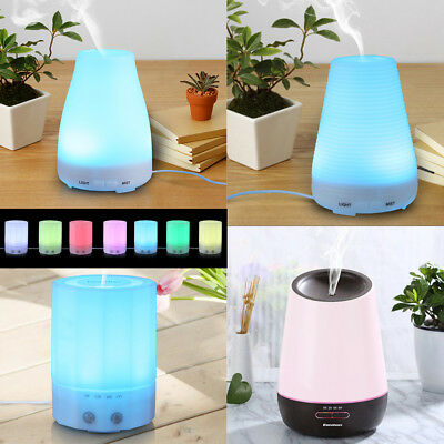 100-500ml Essential Oil Aroma Diffuser LED Ultrasonic Air Humidifier Purifier W2