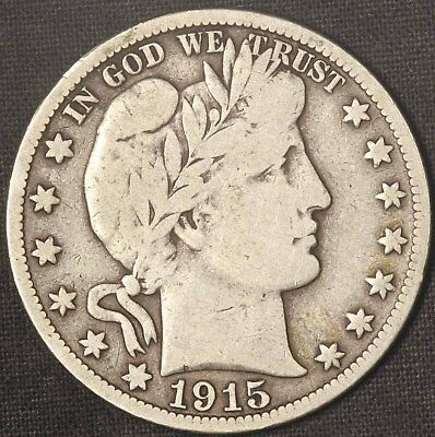 1915-S Barber Half Dollar - Free Shipping USA