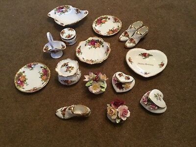 ROYAL ALBERT OLD COUNTRY ROSE  JOB LOT OF 16 Small Quality Items