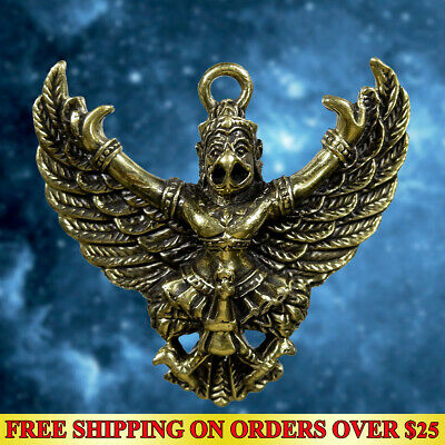 Magic Amulet Pendant Bird Phaya Khrut Garuda Poweful Wealth Talisman Lucky Rich