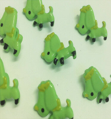 Lime Green Doggy Shaped Buttons