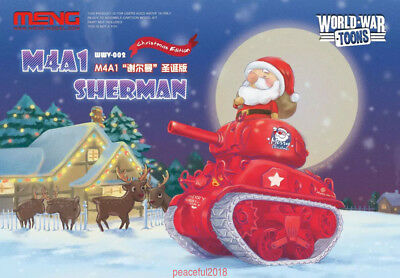 Meng Xmas WWV-002 M4A1 Sherman Q Editon Assembly Model Christmas Special Gift