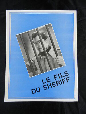 dossier de presse original Le fils dy Sheriff Devaivre press kit