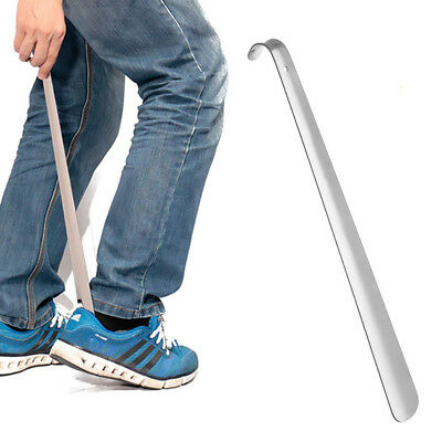 """20"""" Metal Shoehorn Long Handle Shoe Horn Heavy Duty Stainless Steel Shoes Lifter"""