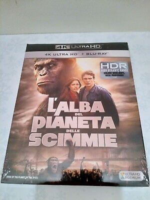 Rise Of The Planet Of The Apes  4K Ultra HD UHD + Blu-ray Italian/English Audio