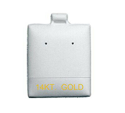 """EARRING PAD PUFF NON FLOCKED WHITE PRINTED """"14 KT GOLD""""100 pieces(bx596)"""
