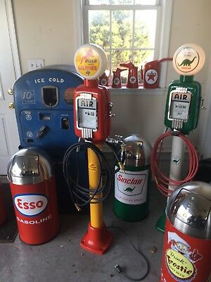Vintage Eco Air Meter Gas Oil ROAR WITH GILMORE Restored With Lights Gas Station