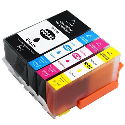 4 Generic HP 905 905XL Ink Cartridges for HP Officejet pro 6950 6956 6960 6970