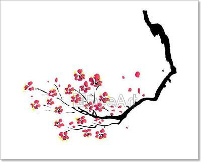 Chinese Painting Of Plum Art Print Home Decor Wall Art Poster