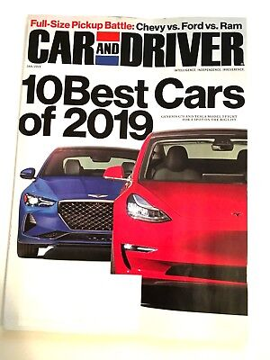 Car And Driver Magazine January 2019 10 Best Cars Of 2019 Full Size