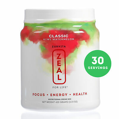 Zurvita- Zeal for Life- 30-Day Wellness Canister- Kiwi Watermelon