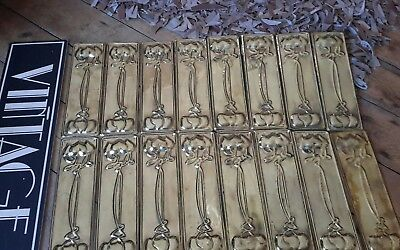 antique Vintage arts and crafts nouveau door finger push plates