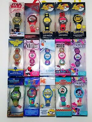 CHILDREN'S WATCHES - Kids LCD Character Watch - Stretch band - Light Up -  Charms