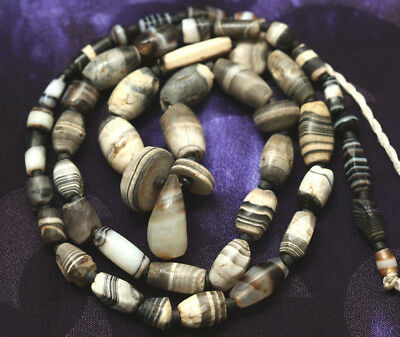 Strand of Ancient Sulimani Chung Beads From Afghanistan