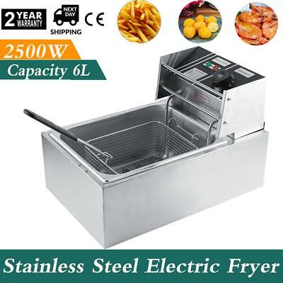 6L Commercial Single Tank Electric Stainless Steel Deep Fat Fryer 2.5KW Discount