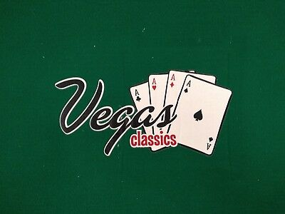 Vegas classics Deluxe Oval Table Top Poker Mat With Portable Storage bag 36 x 72