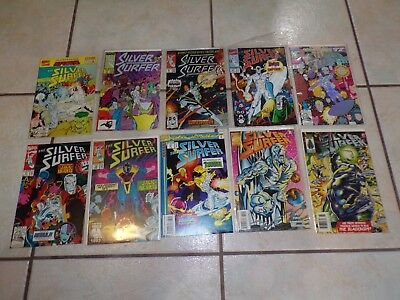 Lot of 10 Vintage Marvel The Silver Surfer Comic Books - 1987 to 1996