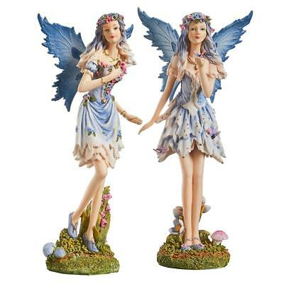 Design Toscano Poppy and Meadow the Windforest Fairies Statue Collection: S/2