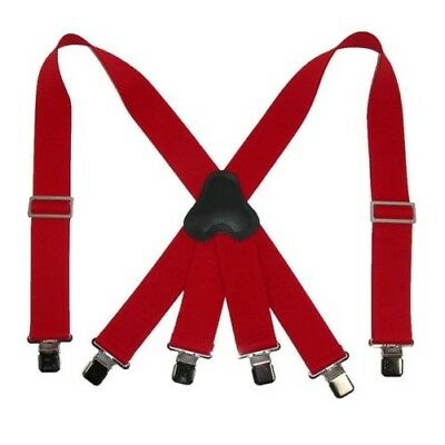 New CTM Men's Elastic Clip-End 2 Inch Fireman Suspenders