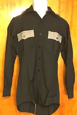 Clifton Super Shirt Long Sleeve Officer Uniform Shirt Zippered Front Button