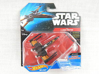 Star Wars:The Force Awakens Die Cast Poe's X-Wing Fighter Toy By Hot Wheels NIB!