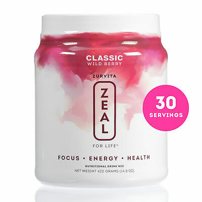 Zurvita- Zeal for Life- 30-Day Wellness Canister- Wild Berry (Classic)
