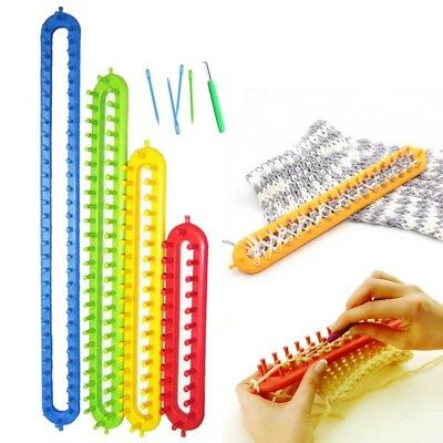 Creative Knit Hobby Knitting Loom Needle Plastic Weaving Tool Hook 1 Set Tool