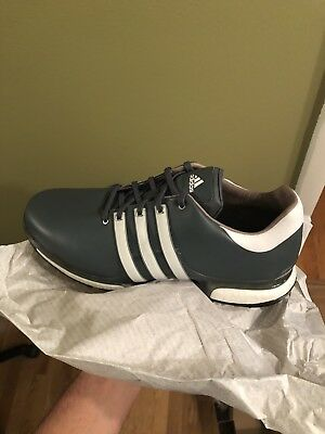 d4fbd1a81ccc 2018 ADIDAS MENS Tour360 Boost 2.0 Wide Golf Shoes White Ice Blue ...