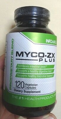Myco-ZX PLUS Alex Jones. Infowars 120 Capsules dietary gut yeast balance enzyme.