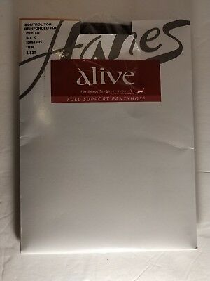 4c440ccadb2cf Hanes Alive Full Support Control Top Reinforced Toe Pantyhose (Style no. 810 )
