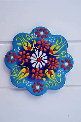 Turkish Hand Painted Tile Coaster - Sky Blue Set/4