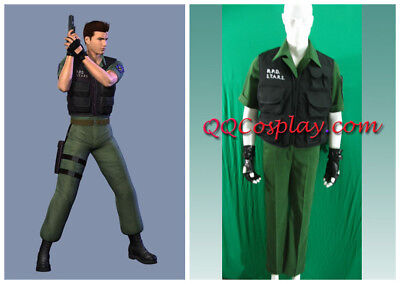 Resident Evil Code Veronica Chris Redfield Cosplay Costume