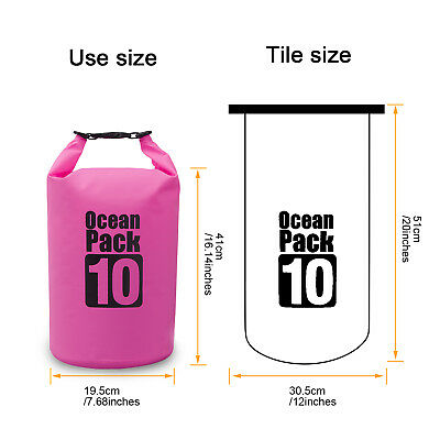 10L Outdoor Waterproof Storage Dry Sack Bag Pouch Boating Kayaking Hiking CP001M