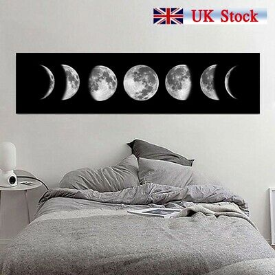 Moon Eclipse Abstract Canvas Wall Art Painting Home Hanging Picture Decor UK