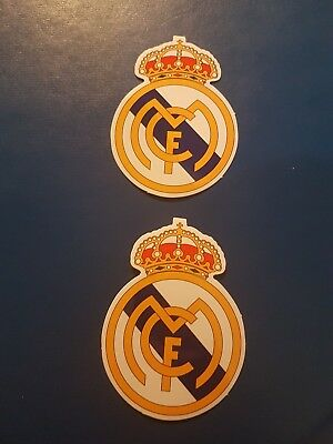 2 of Real Madrid C.F logo stickers for Laptops, folders, suitcases, windows et