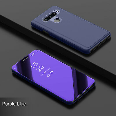 For Samsung Galaxy J8 J4 J6 Plus 2018 Case Smart Mirror Clear Flip Stand Cover